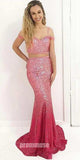 2 Pieces Sequin Mermaid Popular Spaghetti Strap Cheap Long Prom Dresses, PT101 - Prom Muse