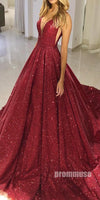 Sparkle V Neck Gorgeous Affordable Long Eveing Prom Dresses SPE118