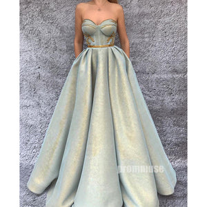 Charming A-line Sweetheart Long Prom Dresses SPE180