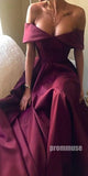 Off the Shoulder Elegant Simple Long Prom Dresses SPE144