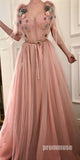 Charming Sweetheart Tulle Unique Formal Pretty Affordable Long Prom Dresses, PM1043