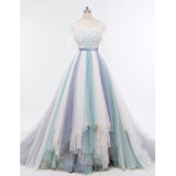 Affordable Charming Half Sleeves Gorgeous Long Prom Dresses, PM0790 - Prom Muse