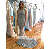 Charming Mermaid Beaded Seen Through Long Prom Dresses, PM1018 - Prom Muse