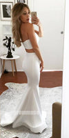 Two Pieces Mermaid Sexy Sweetheart Split Long Prom Dresses, PM0787