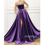Sweetheart One Shoulder Side Slit Long Prom Dresses SPE146