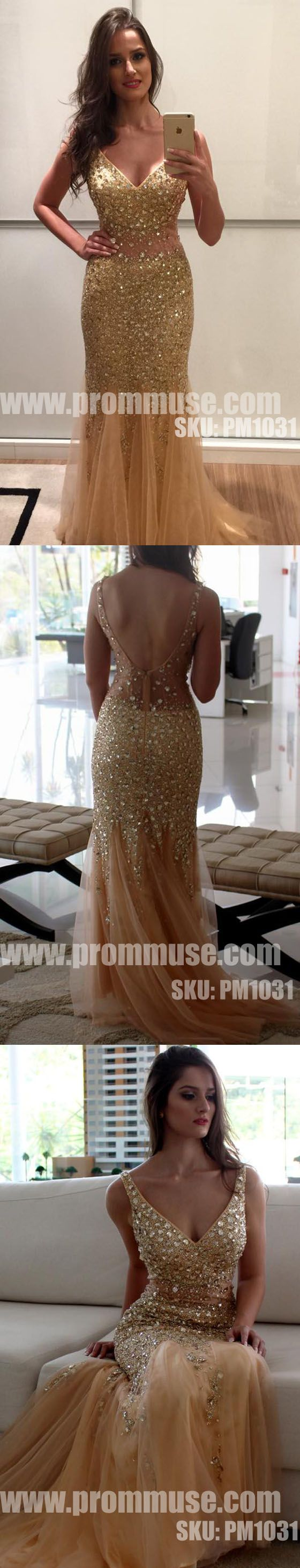 Heavy Beaded Gorgeous Sparkly Mermaid Evening Long Prom Dresses, PM1031