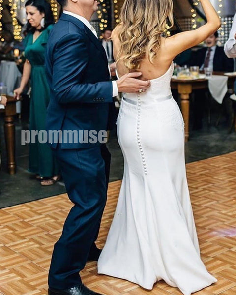 On Sale Mermaid Sweetheart Cheap Long Wedding Dresses, PWD006
