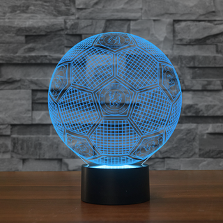 3DFbEng0-12 - Chelsea FC 3D Illusion Lamp 7 Color Changeable Night Lights
