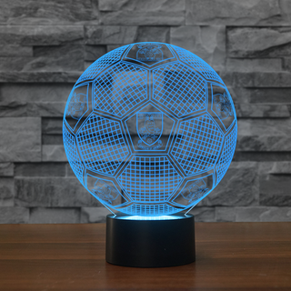 3DFbEng1-14 - Sheffield Wednesday F.C. 3D Illusion Lamp 7 Color Changeable Night Lights