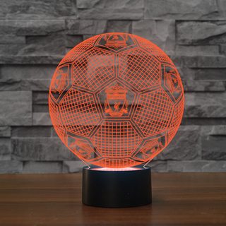 3DFbEng0-05 - Liverpool fc 3D Illusion Lamp 7 Color Changeable Night Lights