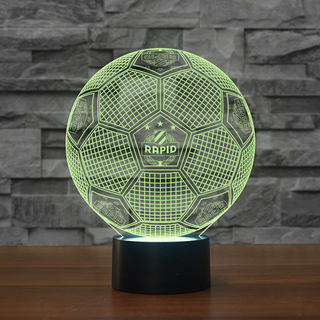 3DFbAus1-07 - Rapid Wien FC 3D Illusion Lamp 7 Color Changeable Night Lights