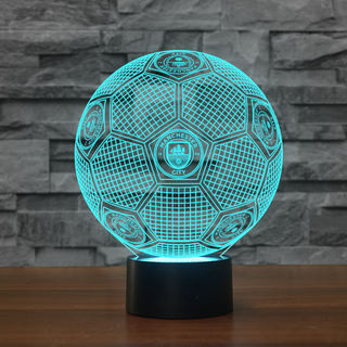 3DFbEng0-07 - Manchester City F.C 3D Illusion Lamp 7 Color Changeable Night Lights