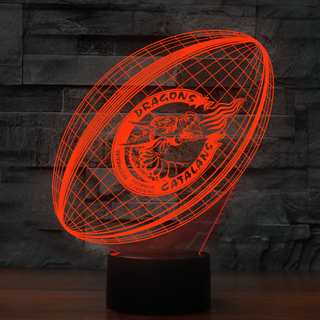 3DRuEng0-02New- Catalans Dragons 3D Illusion Lamp 7 Color Changeable Night Lights
