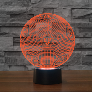 GE1-04-3D Illusion Lamp 7 Color Changeable DE Football Lamp Eintracht Braunschweig Soccer Night Lights