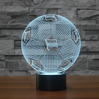 GE0-13-3D Illusion Lamp DE Football Lamp Hertha BSC Soccer Night Lights 3D Visual lights Desk Luminaria