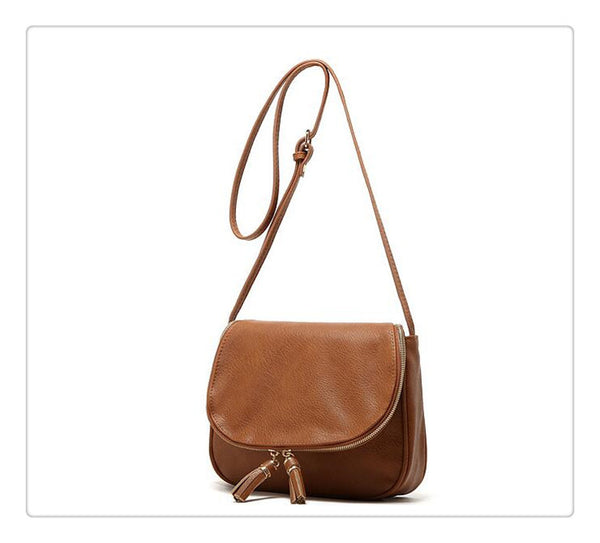 Tassel Leather Handbag