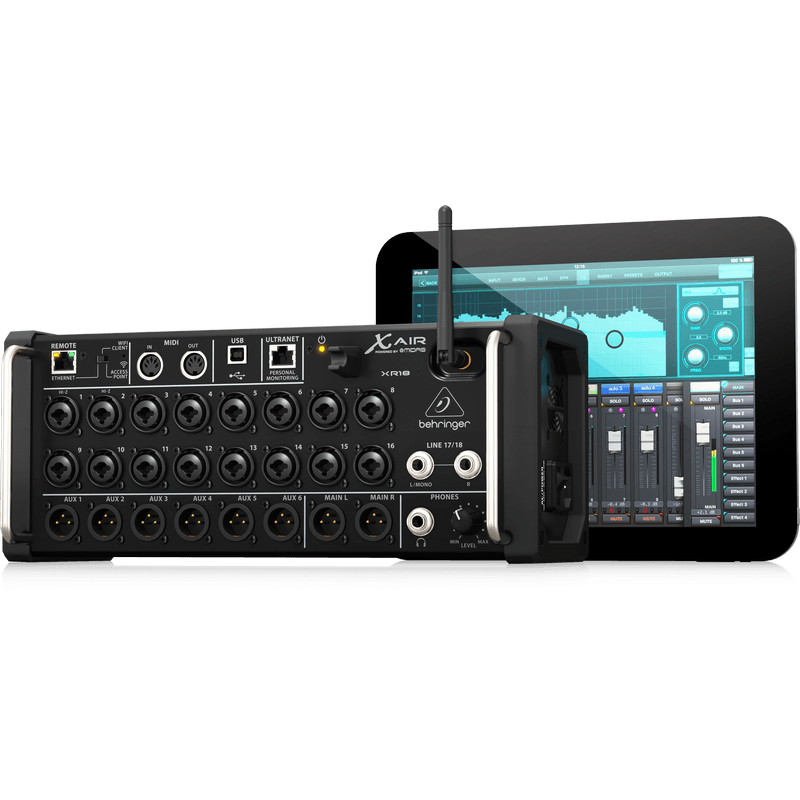 behringer x air xr18 18 channel 12 bus digital mixer for ipad android tablets cannon sound. Black Bedroom Furniture Sets. Home Design Ideas