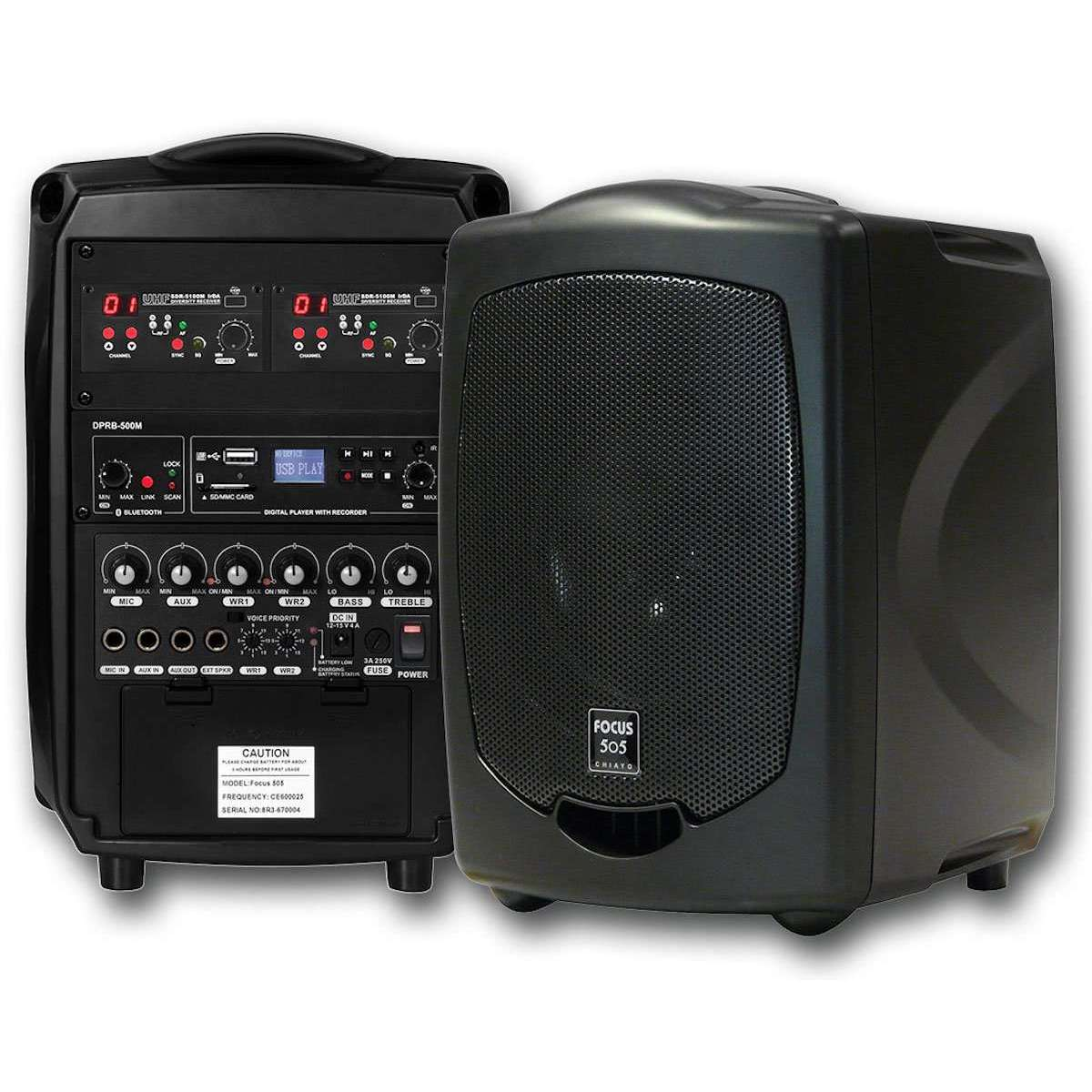 Chiayo Focus 505 Portable PA System with built-in Bluetooth/SD/USB Player  Recorder