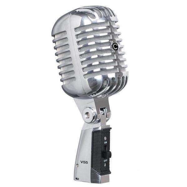Classic V55 Vintage Dynamic Microphone With Carry Case Clearance Spec Cannon Sound And Light
