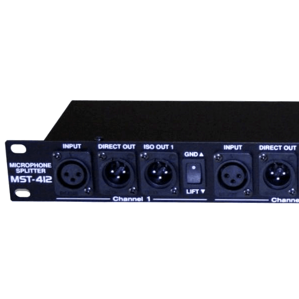 EWI MST-412 4 Channel by Three Way Isolated XLR Rack-Mountable Transformer  Splitter