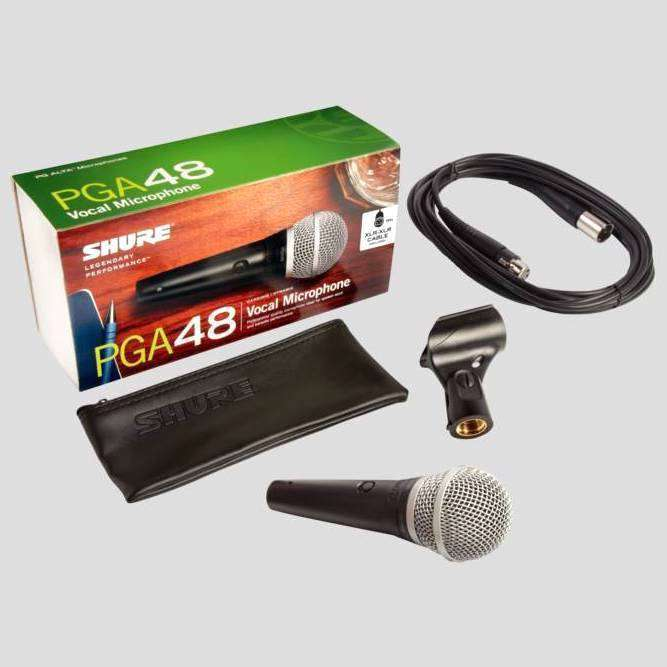 Shure Pga48 Cardioid Dynamic Vocal Microphone With 4 57m