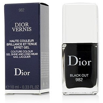 Dior Vernis Couture Colour Gel Shine and Long Wear Nail Lacquer - No.  982 Black Out