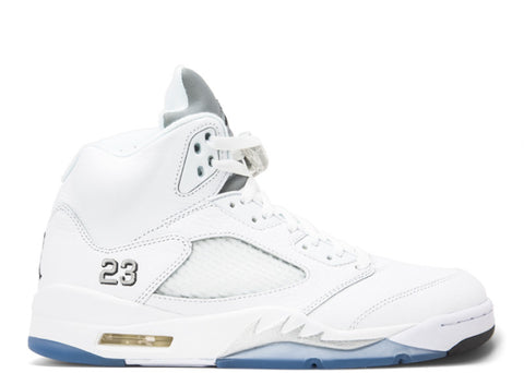 "Air Jordan V ""White/Metallic Silver"" - KickCircle 136027 130 