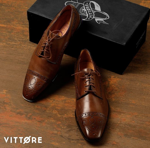 Italian Leather Shoes - Derby Brogues