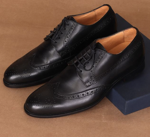 Italian Leather Shoes - Brogues