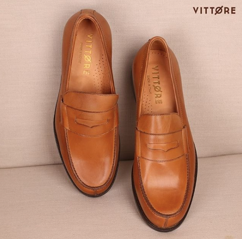 Genuine Leather Italian Shoes - Loafers