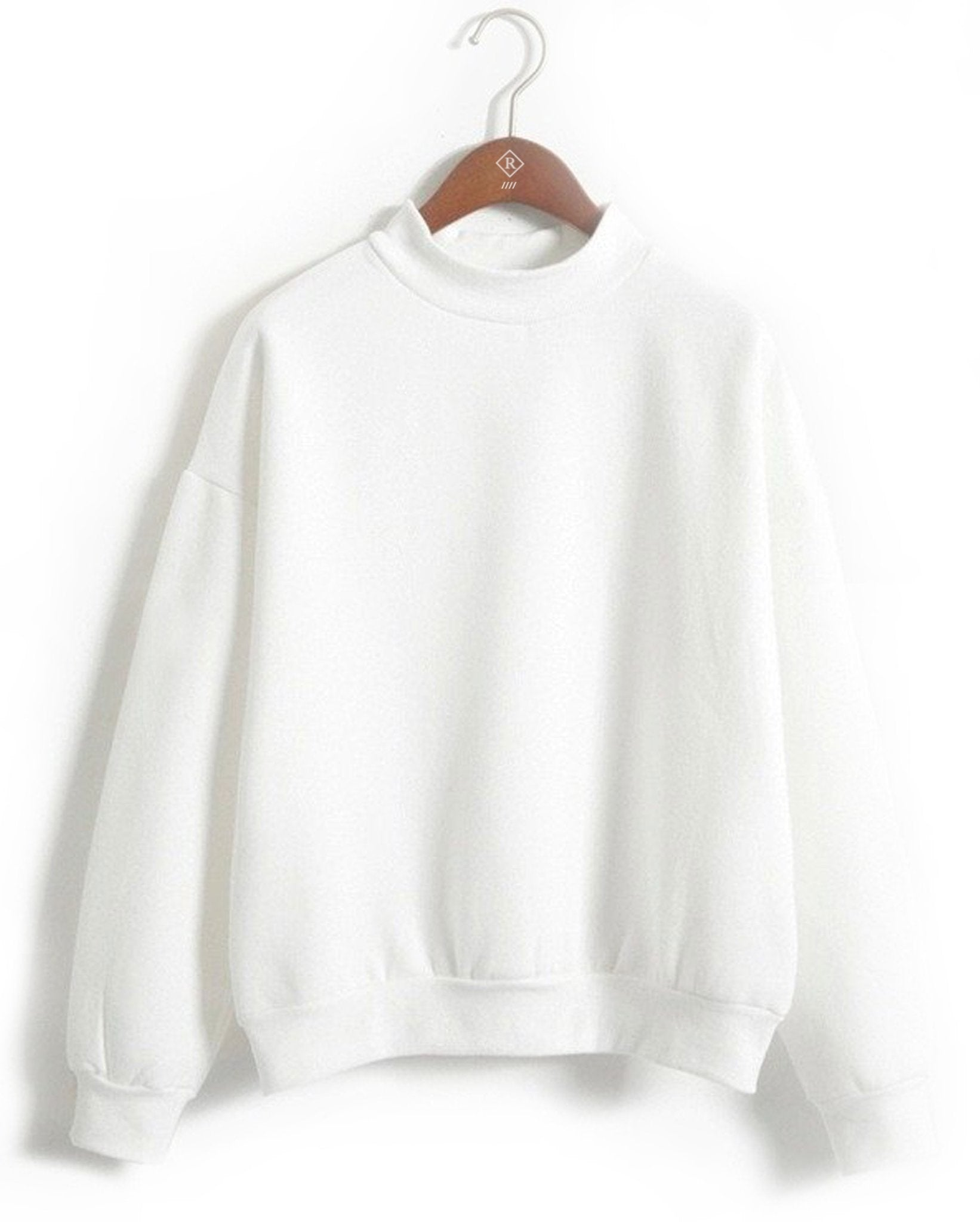 essentials plain white sweatshirt