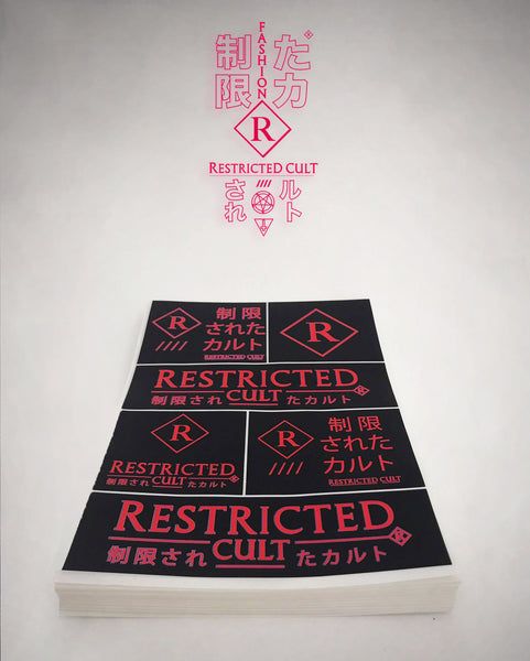 RESTRICTED CULT VHS X VAPORWAVE REDUX (STICKER PACK)