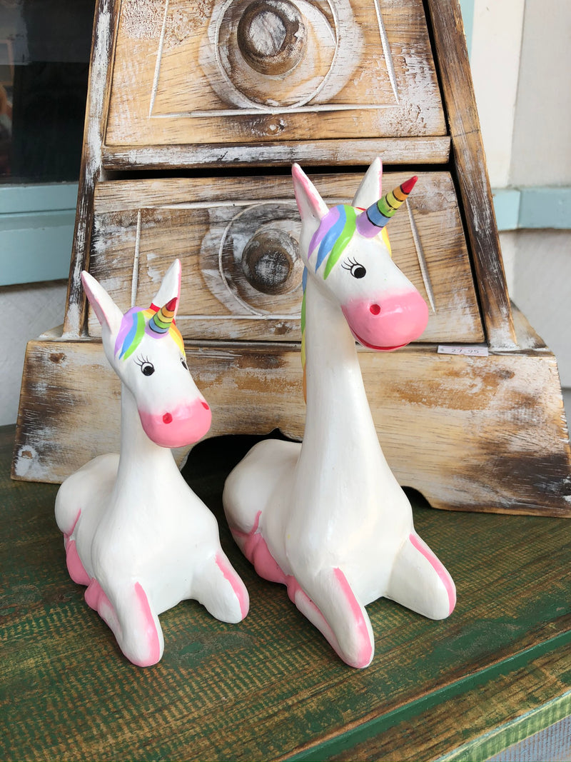 Set of 2 Unicorns - 13/16 cm