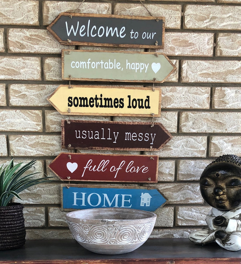 Welcome to our home  - Timber Sign