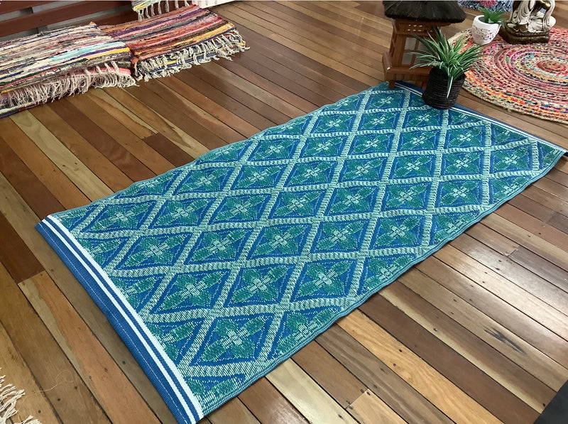 Outdoor plastic patio mat .9 m x 1.8 m