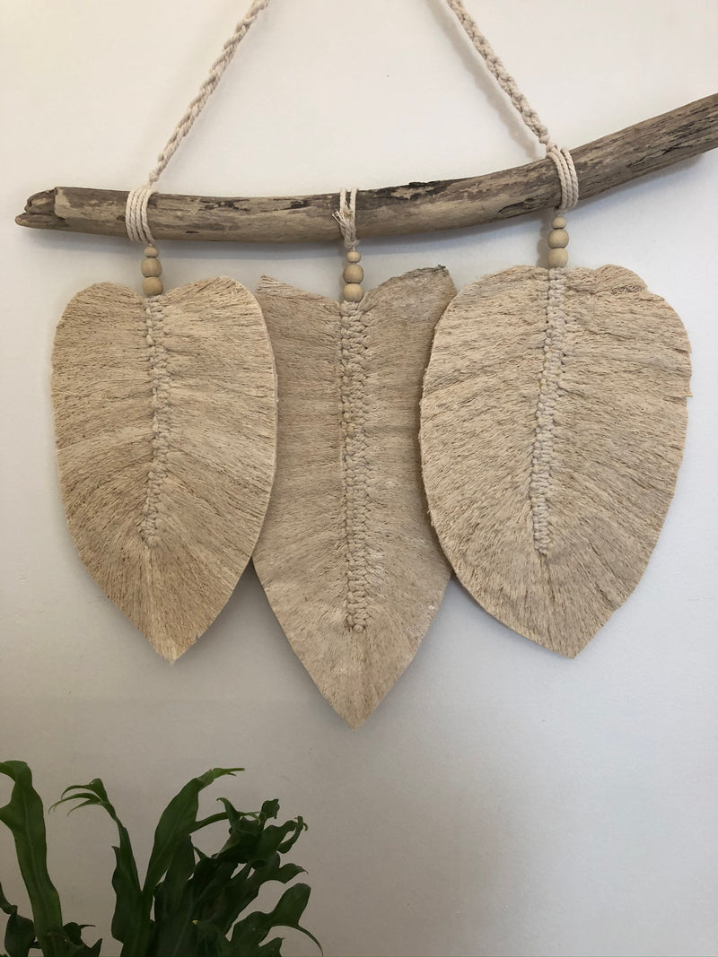Macrame Hanging - feathers