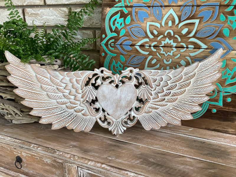 Angel Wings Wall Hanging - 60 cm w