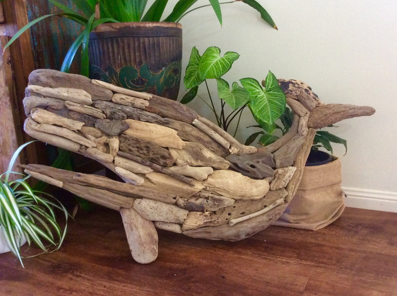 Driftwood wall hanging - Whale Design