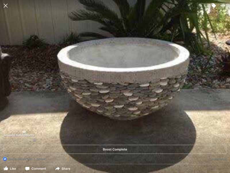 Large pebble planter