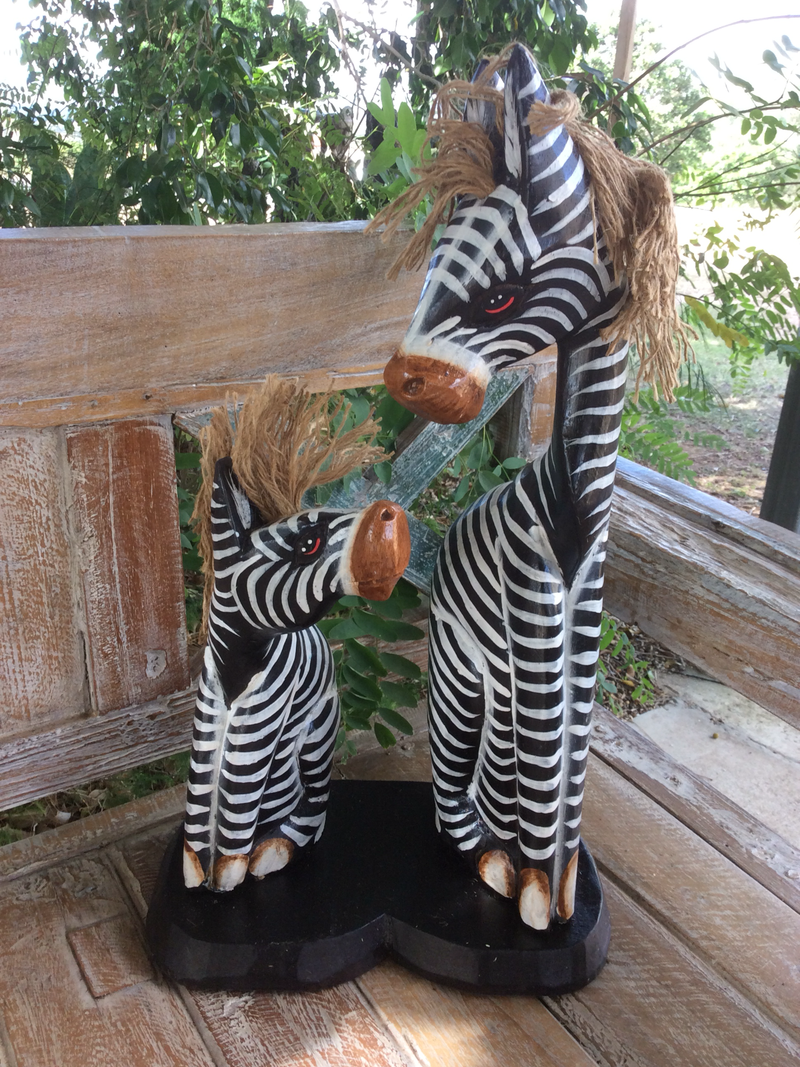Set of 2 sitting Zebras