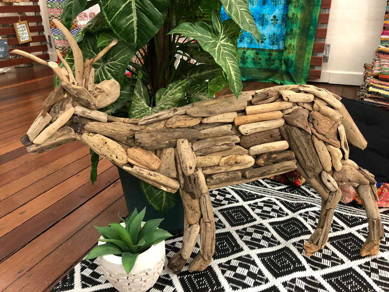 Driftwood wall hanging - Deer Design