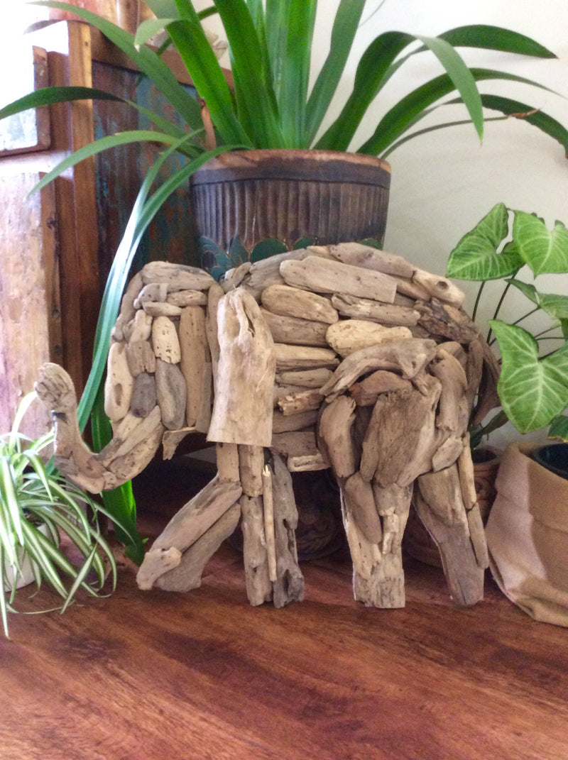 Driftwood wall hanging - Elephant Design