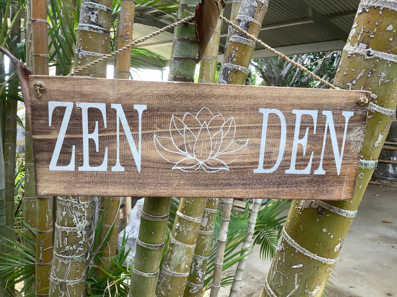 Zen Den - Timber Sign