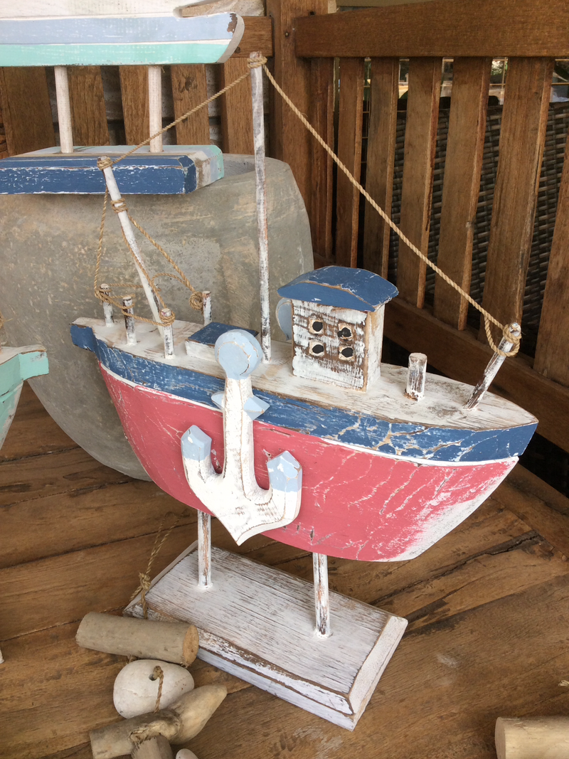 Timber Boat on stand