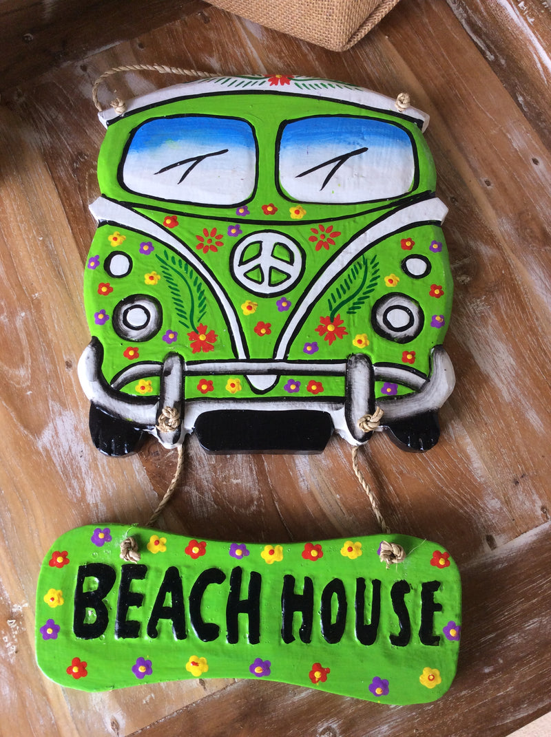 Kombi  Beach house sign