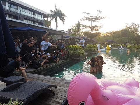 Jomie Bikini photo event BTS Pool