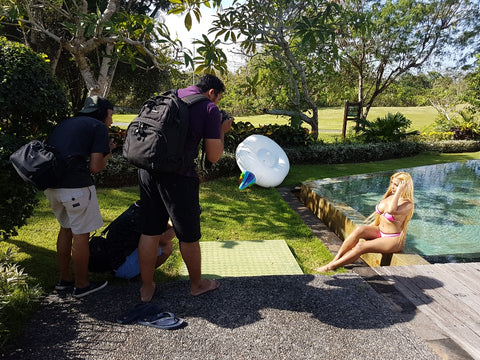 Jomie Bikini event photo bts