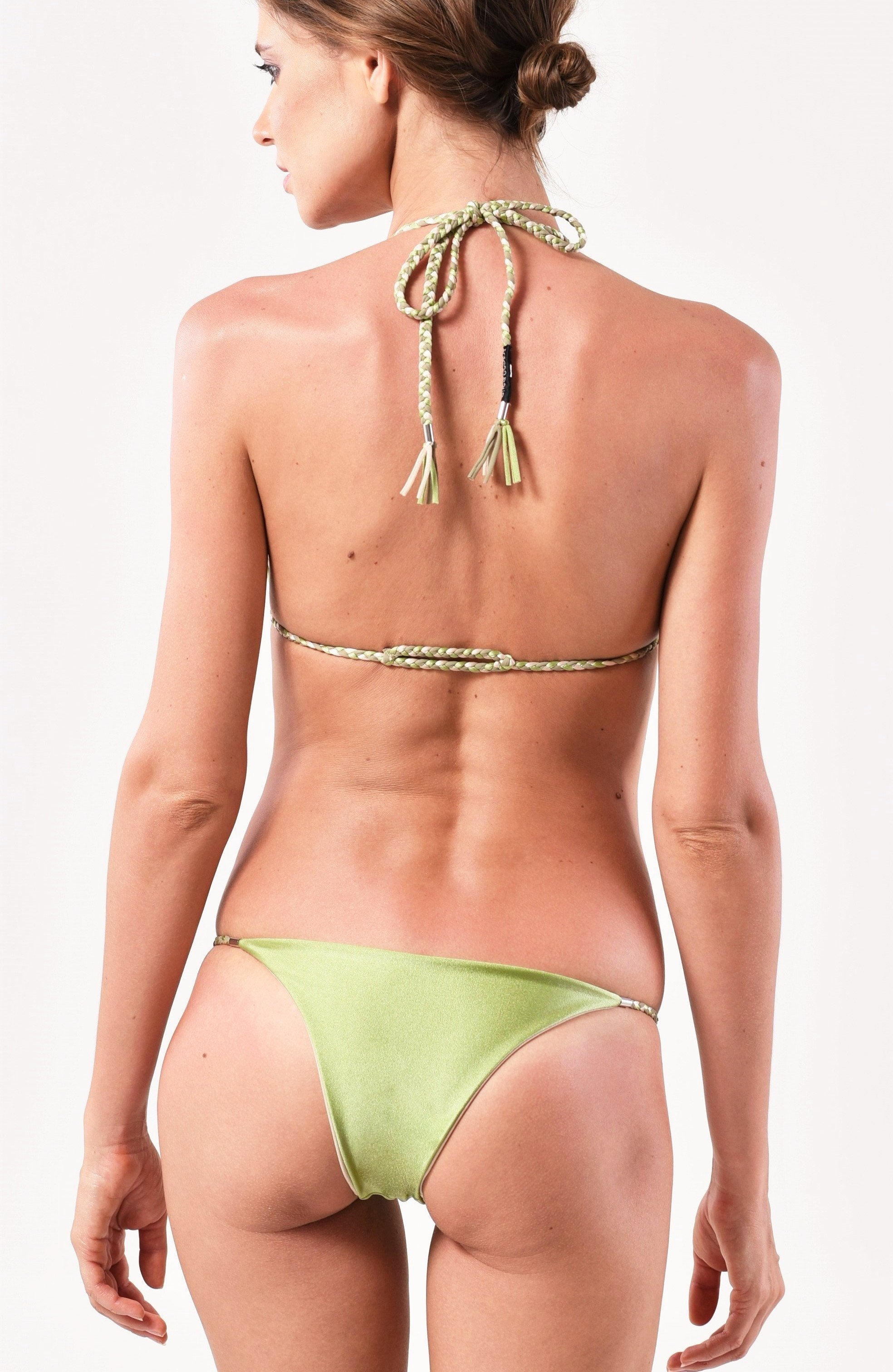 Sliding Triangle Top x String Bottom Bikini SET