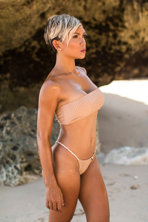 SOLD OUT - Nude Mesh Bandeau Bikini SET