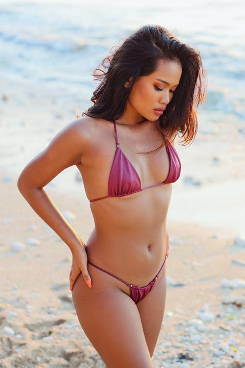 Scrunch String Bikini SET - Mauve